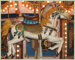 The carousel at the Herschell Carrousel Factory Museum in No. Tonawanda, NY.