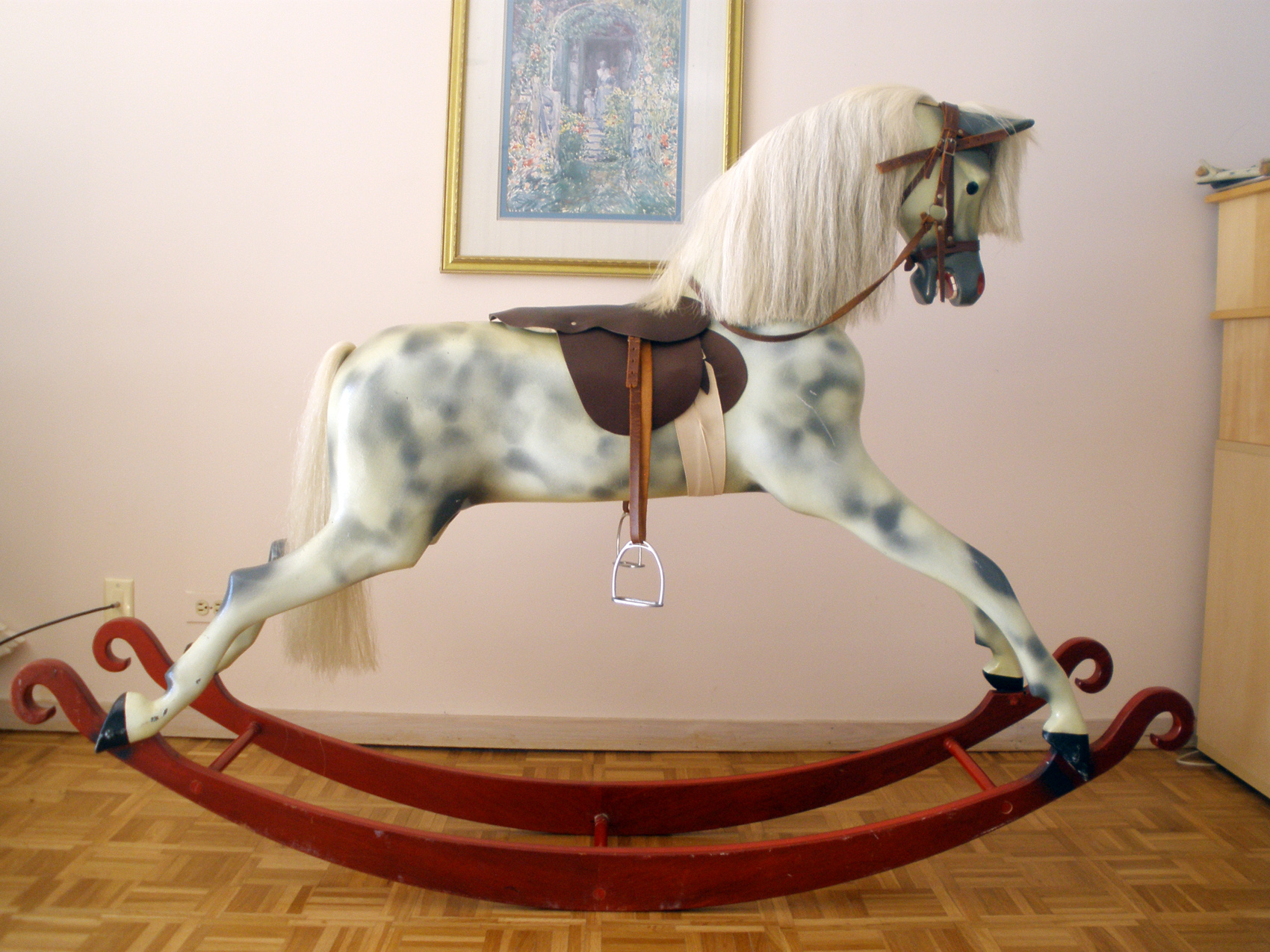 How Much Is A Paint Job >> Haddon Rockers English Rocking Horse | AntiqueCarousels.com