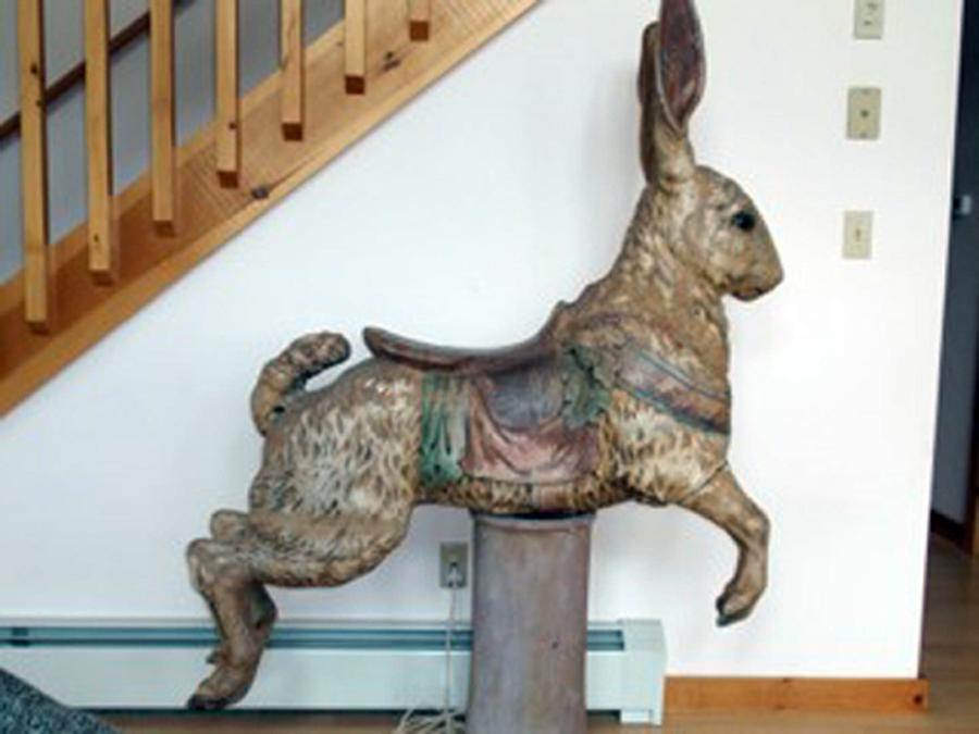Ca 1910 Dentzel Rabbit Sold Antiquecarousels Com