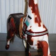 Herschell-Spillman-indian-pony-head-on