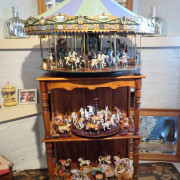 Miniature-carousel-hand-crafted-w-table