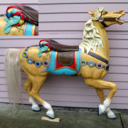 ca.1900-Looff-carousel-horse-with-parrott-cantle