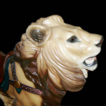 Dentzel-lion-bust black