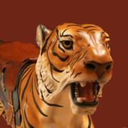 Dentzel-tiger-bust red
