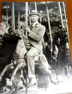 The Duke of York aboard the Blists Hill Gallopers, 1924.