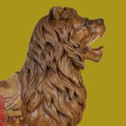 Rare-E-Joy-morris-carousel-lion-original-paint-singature-bust