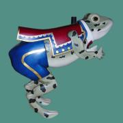 1910-Herschell-Spillman-carousel-frog-grn