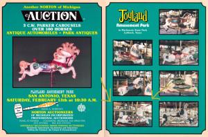 Playland-Bells-Joyland-amusement-park-carousel-horse-auction-1988