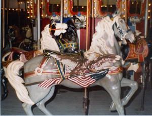 ca-1905-Dentzel-flag-carousel-horse-Presidents-Park-NM-