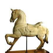 Dentzel-antique-carousel-horse-stripped-non-rom