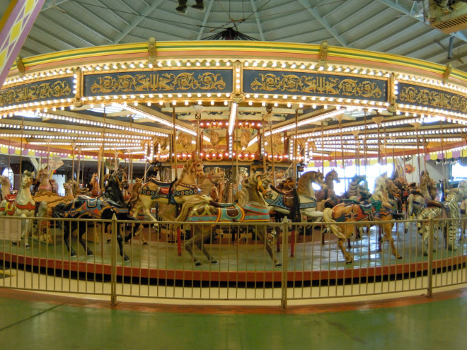 Historic-Floyd-Moreland-Carousel-Casino-Pier-Seaside-New-Jersey