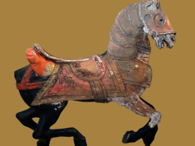 1916-Looff-armored-carousel-horse-Santa-Monica-Pier