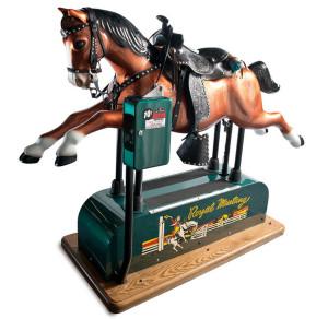 Ca-1950-restored-Royal-Mustang-Coin-op-wooden-horse