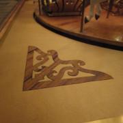 Miniature-Looff-style-carousel-base-inlay