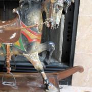 Rare-o)riginal-PTC-factory-carousel-rocking-horse-front