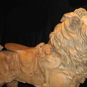 ca-1905-Dentzel-carousel-lion-romance-detail