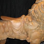 ca-1905-Dentzel-carousel-lion-romance-detail-2