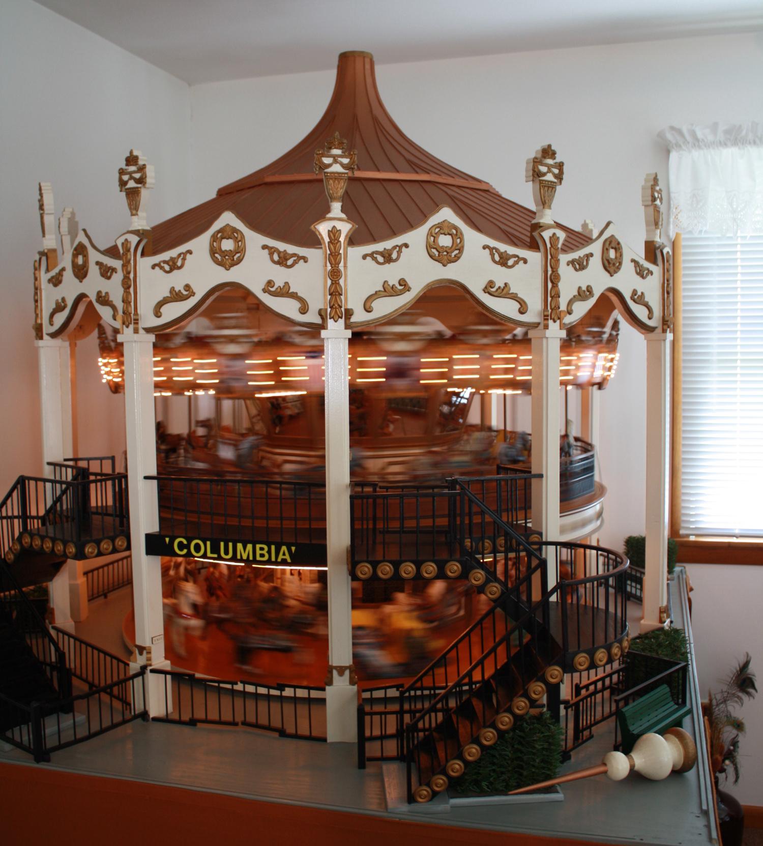 Miniature Columbia Carousel Sold Antiquecarousels Com