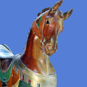 Antique-Dentzel-carousel-horse-from-The-Midway-NY-head-front