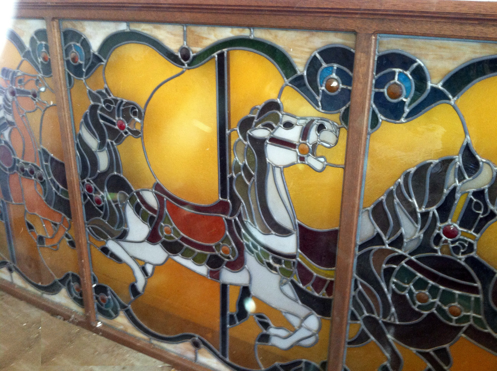 Carousel Horses Stained Glass 10 Antiquecarousels Com