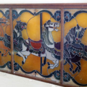 Stained-glass-carousel-horses-large-window-panel