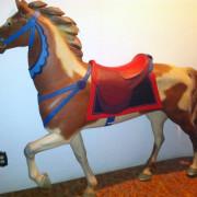 ca-1910-Muller-rose-pony-carousel-horse-non-rom