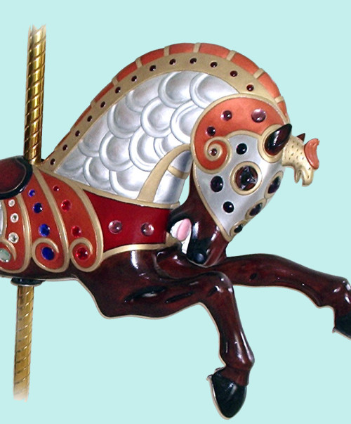 Jantzen-armored-1921-Parker-carousel-horse-blue