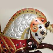 Jantzen-armored-Parker-carousel-horse-bust