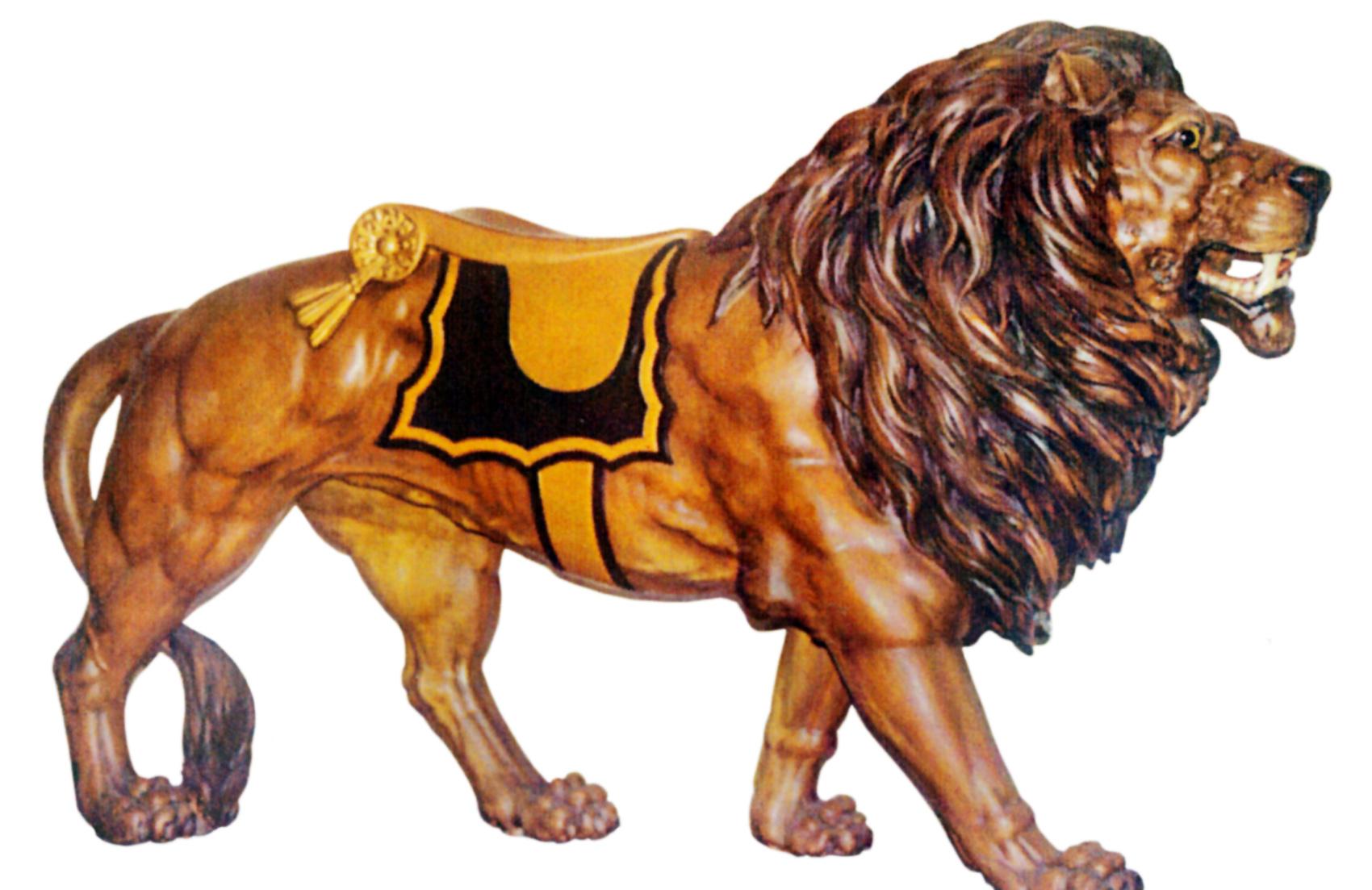 Ca 1903 Looff Carousel Lion Sold Antiquecarousels Com