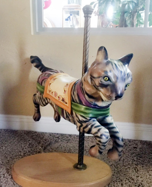 French-juvenile-carousel-cat-front