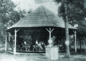 1902 E. Joy Morris carousel at Quassy Lake Amusement Park in CT.