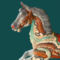 ca-1910-Anderson-Galloper-carousel-horse-Brian-bust
