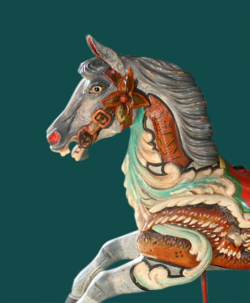 ca-1910-Anderson-Galloper-carousel-horse-Brian-bust