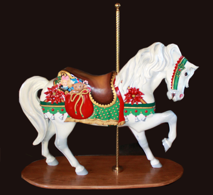 Christmas Horse.Mgr Museum Christmas Stander Sold