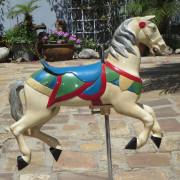 Mangels-Illions-metal-kiddie-carousel-horse-ca-1920-50