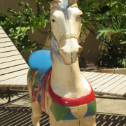 Mangels-metal-kiddie-carousel-horse-ca-1920-50