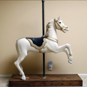 ca-1900-European-carousel-horse-prancer