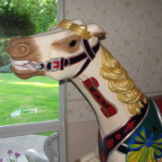 ca-1920-Savage-double-seat-carousel-horse-head