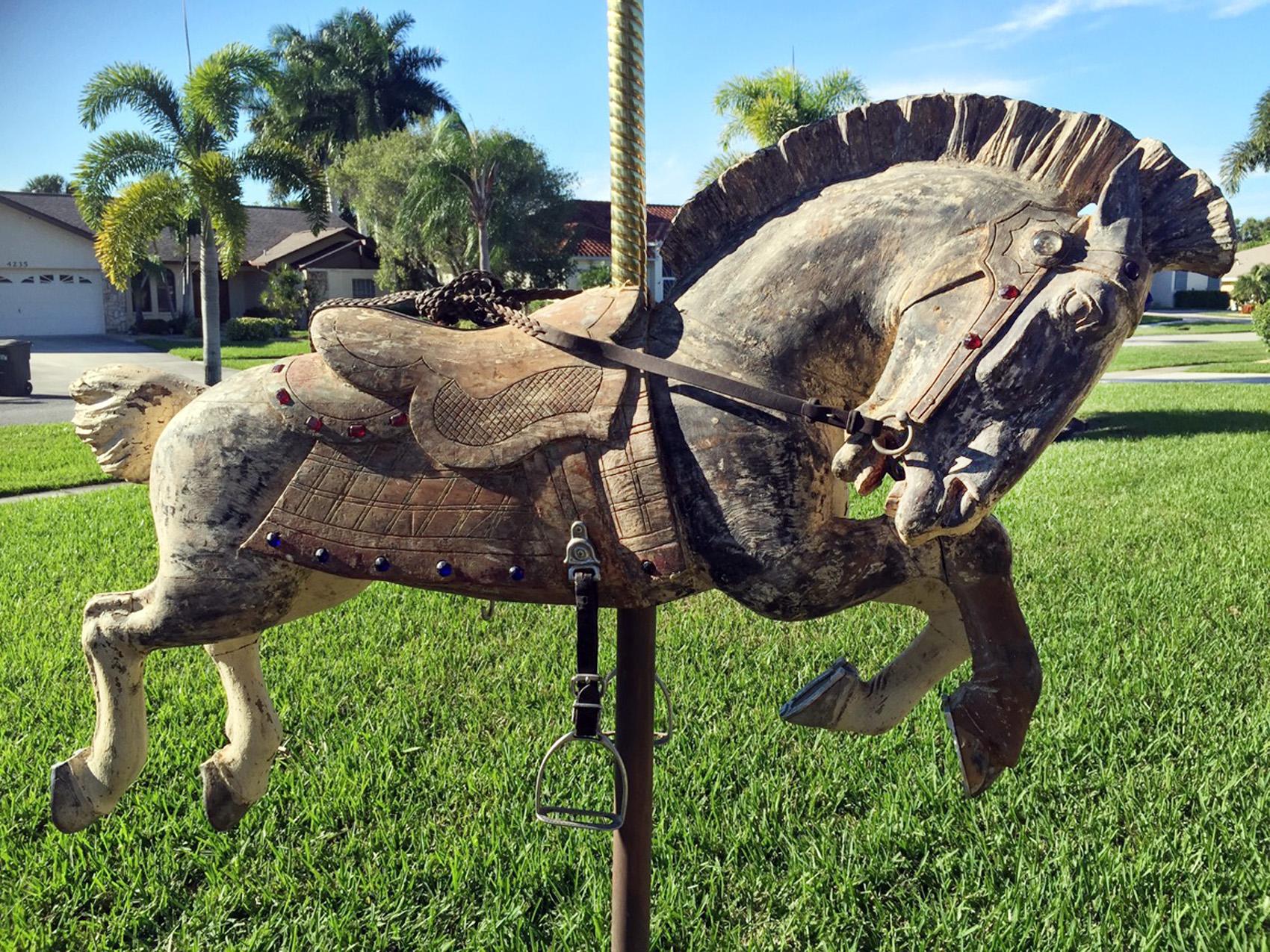 1917 Herschell Trojan Carousel Horse - Sold ...