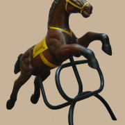 Brill-metal-carousel-horse-brown