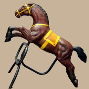 Brill-metal-carousel-horse-brown-3