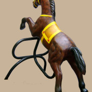 Brill-metal-carousel-horse-brown-4