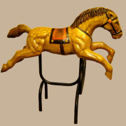 Brill-metal-carousel-horse-golden