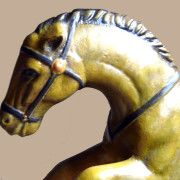 Brill-metal-carousel-horse-golden-head
