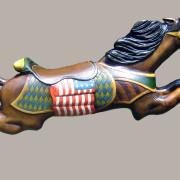C-W-Parker-flag-jumper-carousel-horse