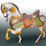 Stein-Goldstein-Revere-Beach-carousel-horse-panther-saddle-nr
