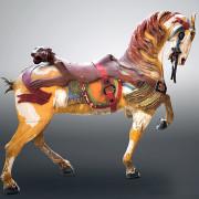 Stein-Goldstein-Revere-Beach-carousel-horse-panther-saddleL