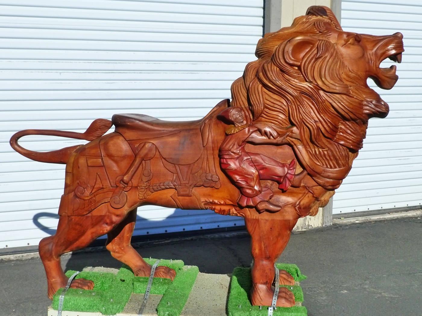 Contemporary Carved Carousel Lion Sold