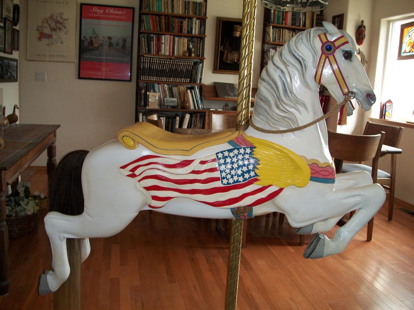 Ca 1910 Herschell Spillman Flag Jumper Antiquecarousels Com