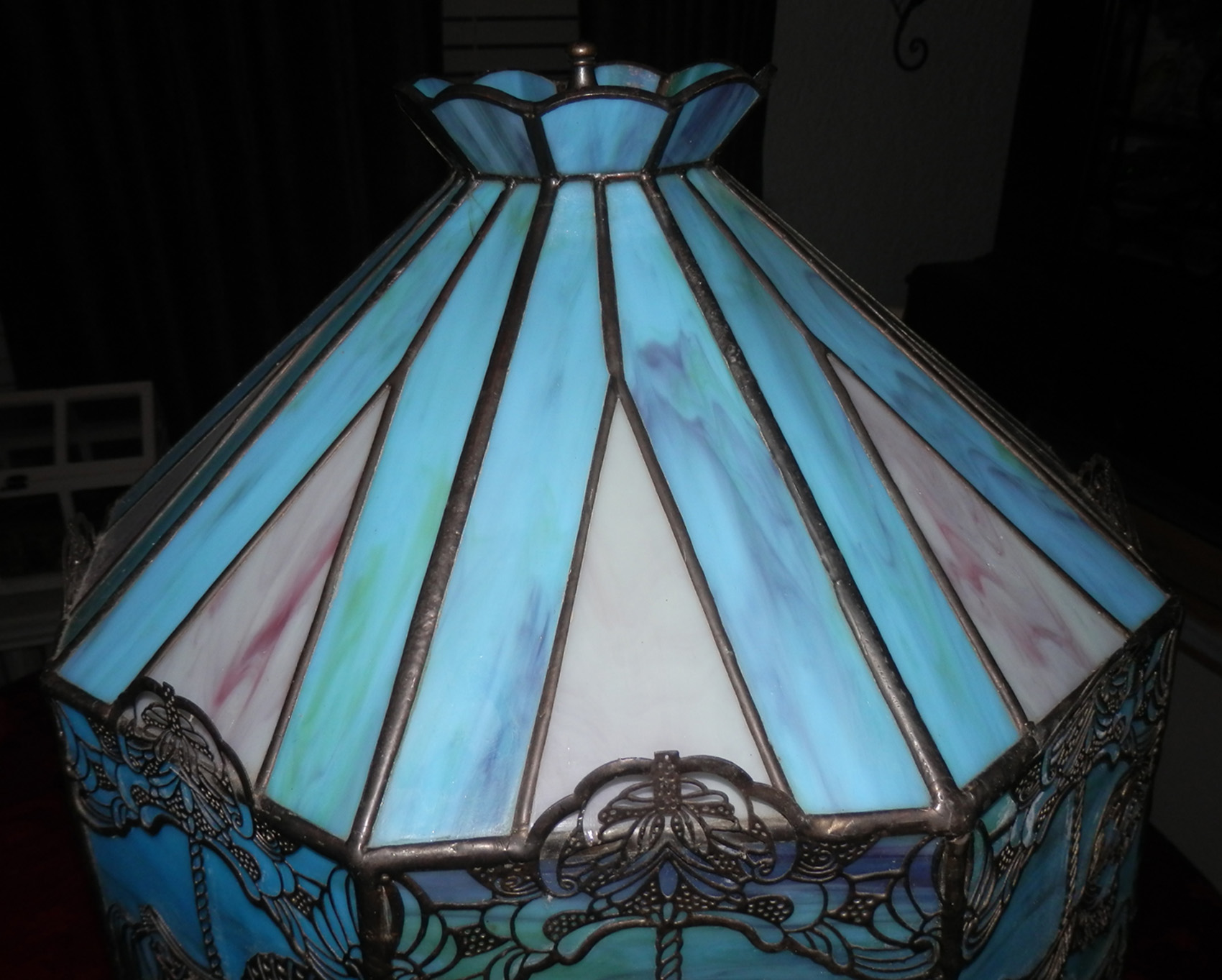 Handcrafted Slag Glass Carousel Lamp Sold Antiquecarousels Com